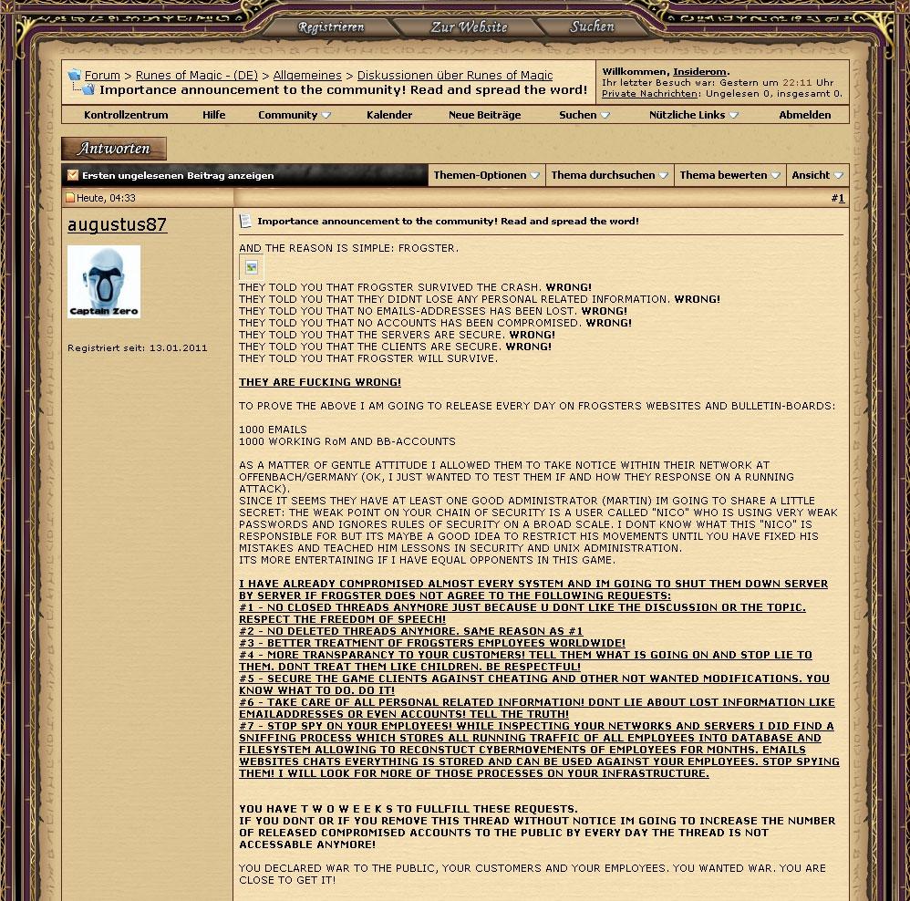 Cliquez sur l'image pour la voir en taille réelleNom : Hacker claims.jpgAffichages : 133Taille : 378,8 KoID : 3247