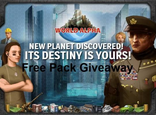 WolrdAlpha Free pack Giveaway