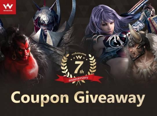 webzen 7th anniversary giveaway image