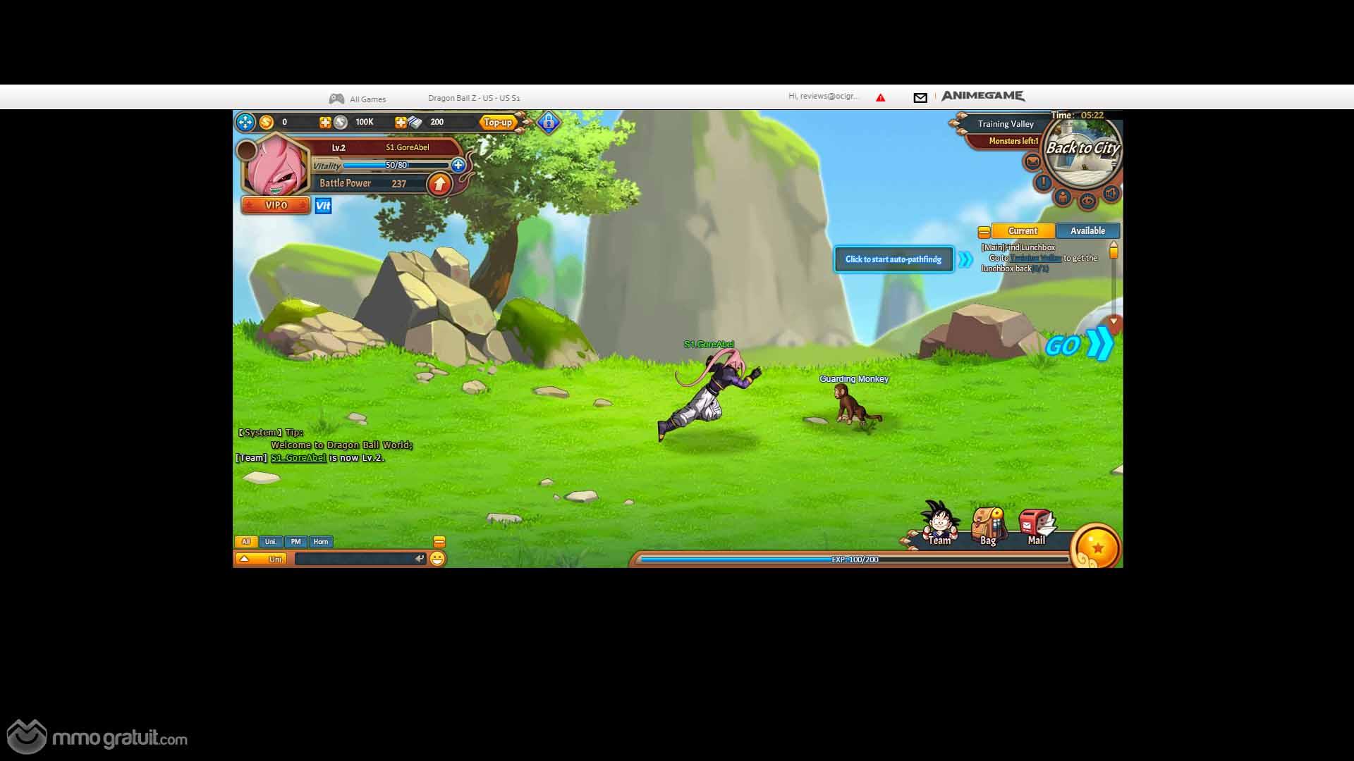 Dragon Ball Online est un jeu vidéo massivement multijoueur en ligne basé sur le célèbre manga des années 1990, dans lequel vous aurez le plaisir de jouer avec vos personnages préférés dans des combats épiques. En effet, DBO mélange tous les éléments d'un jeu de rôle avec les personnages de ce manga aujourd'hui culte pour de nombreux fans.